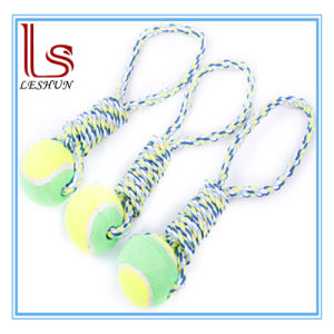 Pet Products Toy Resistance to Bite Cotton Rope Tennis Molar Teeth Toy for Dog pictures & photos