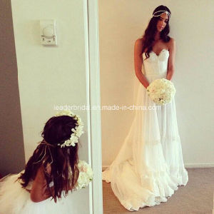 Sweetheart Wedding Gowns Lace Court Train Bridal Dresses Z2033 pictures & photos