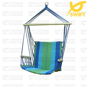 Blue Hanging Rope Hammock Chair