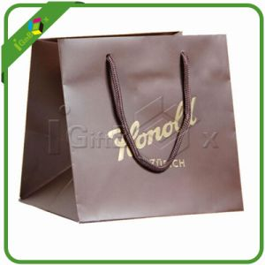 Decorative Brown Paper Bags with Handles Wholesale pictures & photos