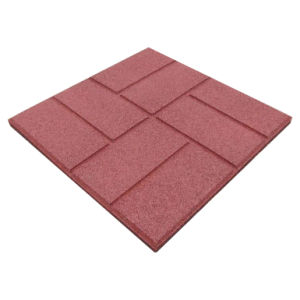 Strip SBR Rubber Tiles, Recycled Rubber Paver/Rubber Flooring pictures & photos