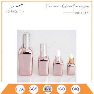 Square Glass Oil Bottle with Dropper pictures & photos