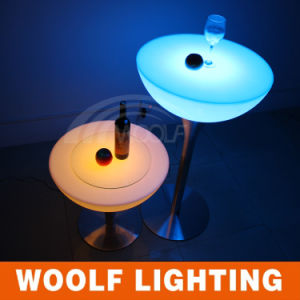 LED Lighting Plastic Antique Round Coffee Tables pictures & photos