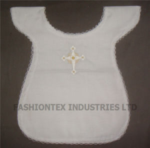 Cotton Baby Baptismal Attire with Embroidered and Lace Trim pictures & photos
