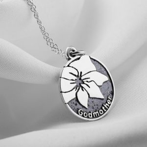 Genuine 925 Sterling Silver Godmother Flower Necklace Pendant Elegant Vintage Jewelry Mother′s Gift Necklace pictures & photos