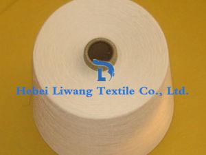 100% Ring Spun Polyester Yarn Raw White for Weaving Yarn 47s