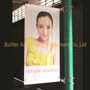 Metal Street Pole Advertising Poster Holder (BS-HS-053) pictures & photos