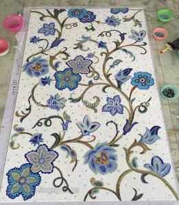 Mural Flower Glass Mosaic Pattern Art Mosaic (HMP715) pictures & photos