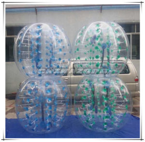 Authentic Quality Color Dots Inflatable Bubble Football From Guangzhou Factory