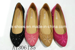 Four Colorway Lady Flat Women Shoe (A1306135)