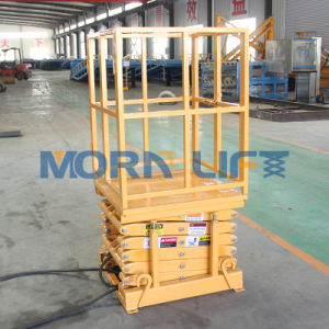 Electric Mini Scissor Lift with 3m Height Loading 1000kg pictures & photos