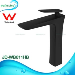Watermark Deck Mounted Tall Black Basin Faucet Mixer Tap pictures & photos