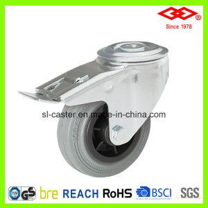 125mm Grey Rubber Industrial Castor (D102-32D125X37.5) pictures & photos