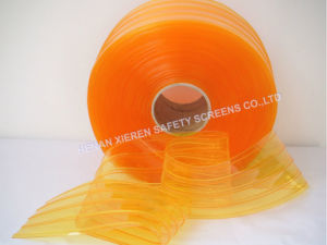 PVC Strip Curtains Anti-Insect Yellow Ribbed pictures & photos