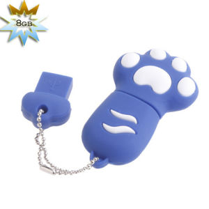 PVC Keyring Bear Paw 64GB 512MB USB Flash Pendrive pictures & photos