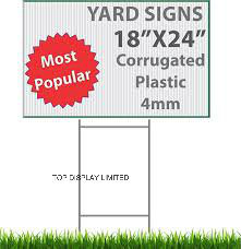 Waterproof Foam Board Corrugated Plastic Signs Coroplast Sign Printing 4mm Custom Corflute Sign pictures & photos