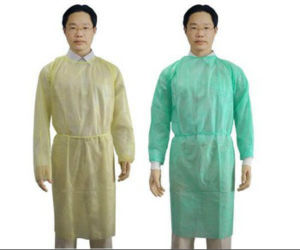 Single Packing Surgical Nonwoven Yellow Isolation Gown for Hospital pictures & photos