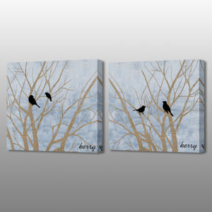 MP-599ab Tree and Birds Decorative Art Wall Painting