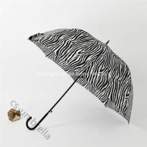 "22""X8k Dome Shape Zebra Canopy Straight Sun Umbrella (YSS0145) pictures & photos"