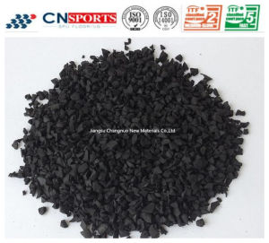 Black Recycle Rubber Granule for Runway and Sports Field pictures & photos