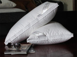 White Duck Feather Cotton Proof Oblong Pillow