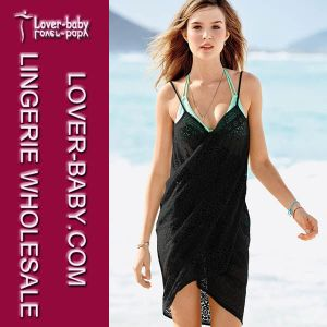 Black Beach Woman Wrap Dress (L38176-1) pictures & photos