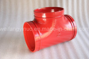 FM/UL Ductile Iron Grooved Equal Tee for Fire Fighting Systems pictures & photos