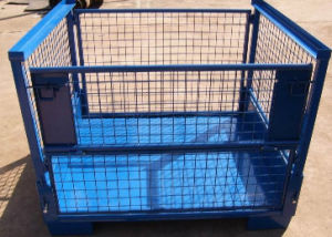 Warehouse Storage Foldable Stacking Steel Wire Mesh Steel Container pictures & photos