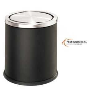 Black Powder Coated Steel Bins & Dustbins pictures & photos