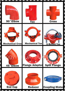 "High Quality Ductile Irongrooved Mechanical Tee (FM/UL) 159*2"" pictures & photos"
