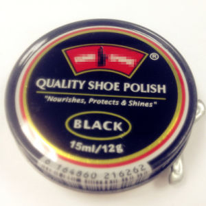 2014 Hot Sale Solid Shoe Polish in Tin Case 15ml