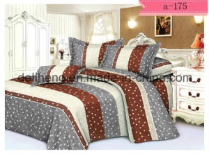 Twill Weaving 100% Polyester Velvet Bed Sheet Printed Fabric pictures & photos