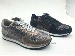 Height Increasing PU Women Shoes with Shoelaces (ET-MTY160330W) pictures & photos