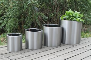 Stainless Steel Self-Watering Planter (FO-9064) pictures & photos