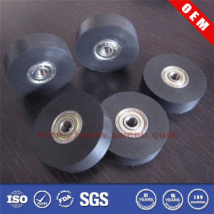 China Hot Sale NR Rubber Roller Wheel with Metal Center pictures & photos