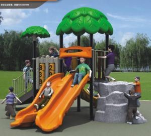 Kaiqi Small Forest Series Children′s Outdoor Plastic Playground Set (KQ10023A) pictures & photos