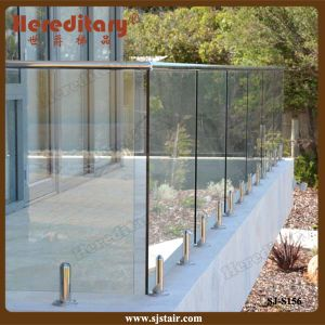 Frameless Glass Pool Railing with Top Rail for Balcony (SJ-S156) pictures & photos
