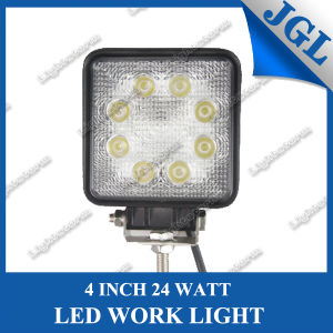 24W Square 4 Inch LED Work Light for off Road/Boat/ATV