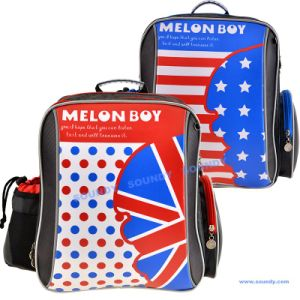 Melon Boy Fashion Backpack with Reflective Printing on The Shoulder Strap
