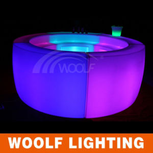 Modern Indoor LED Lighted Plastic Pub Furniture pictures & photos