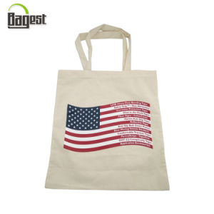 Cheap Handled Style Printed Shopping Tote Cotton Bag pictures & photos