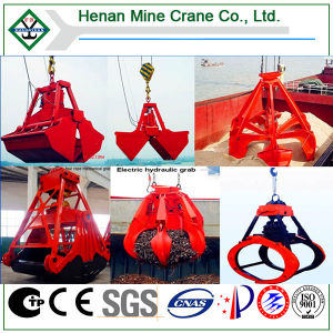 Hydraulic Grab Clamshell Bucket Overhead Crane for Handling Bulk Material pictures & photos