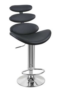 (SX-172) Black PU Leather Bar Stool pictures & photos