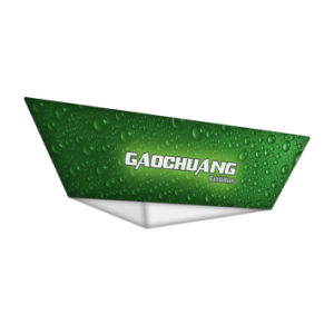 Tappered Triangle Hanging Sign Tension Fabric Exhibition Banner Stand (GC-TT) pictures & photos
