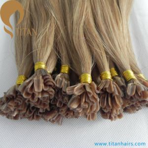 100% Indian Human Hair Nano Ring Hair Extensions 10# pictures & photos