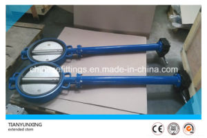 Soft Seal Wafer Extended Stem Extension Spindle Butterfly Valve pictures & photos
