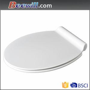 Low Profile White Round Urea Toilet Seat with Slim Design pictures & photos