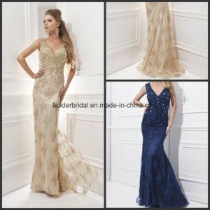 Applique Evening Ladies Fashion Dress Lace Formal Gowns Z1025 pictures & photos