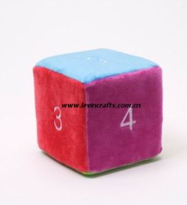 Plush Stuffed Dice for Baby Toys