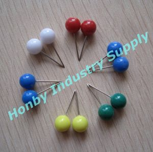Office Binding 8mmx20mm Colorful Plastic Ball Head Push Pins